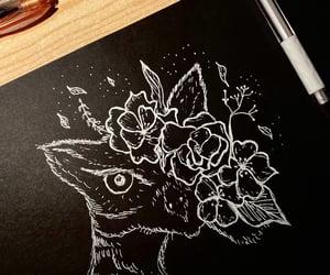 blackandwhite, drawings, and art image