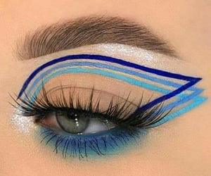 blue, eye, and beauty image