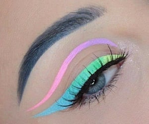 beauty, eye, and make-up image
