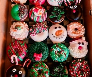 donuts, christmas, and delicious image