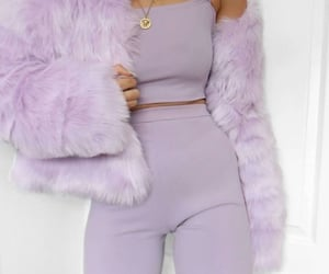 fashion, purple, and outfit image
