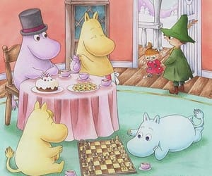 moomintroll, snorkeling, and moominvalley image
