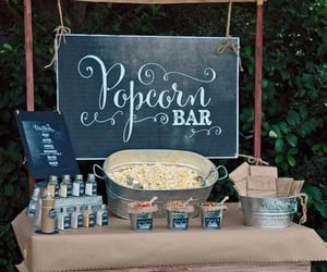 popcorn, food, and wedding image