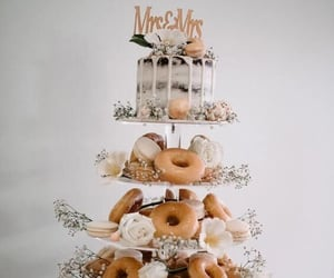 cake, doughnuts, and marriage image