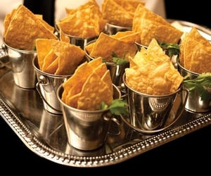 chips, food, and wedding image