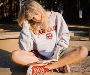blonde, book, and character image