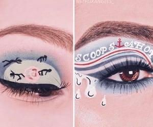 eyes, stranger things, and casa de papel image