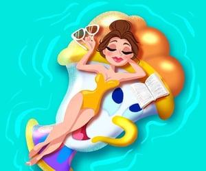 disney, pool, and princess image