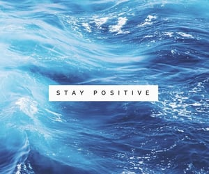 positive, blue, and background image