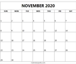 calendar, november calendar, and november 2020 calendar image