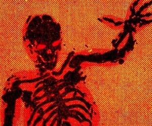 aesthetic, skeleton, and orange image