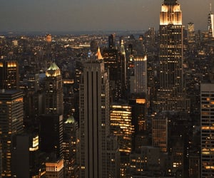 big city, new york, and night city image