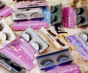 eyelashes, lashes, and fake eyelashes image