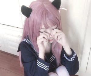 aesthetic, cat ears, and cute image