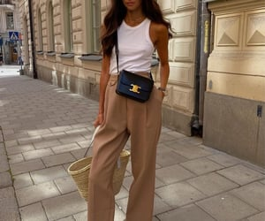 beige, pants, and suite image