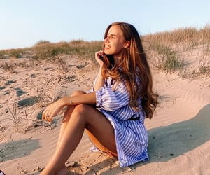 beach, happy, and inspiration image