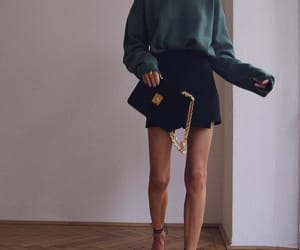 blogger, look, and green sweater image