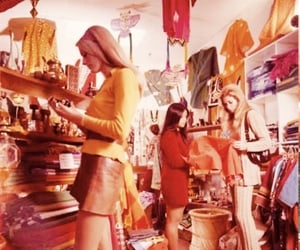 60s, girls, and red image