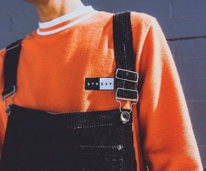 fashion, orange, and outfit image