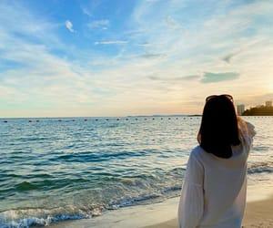 beach, Cambodia, and asian beauty image