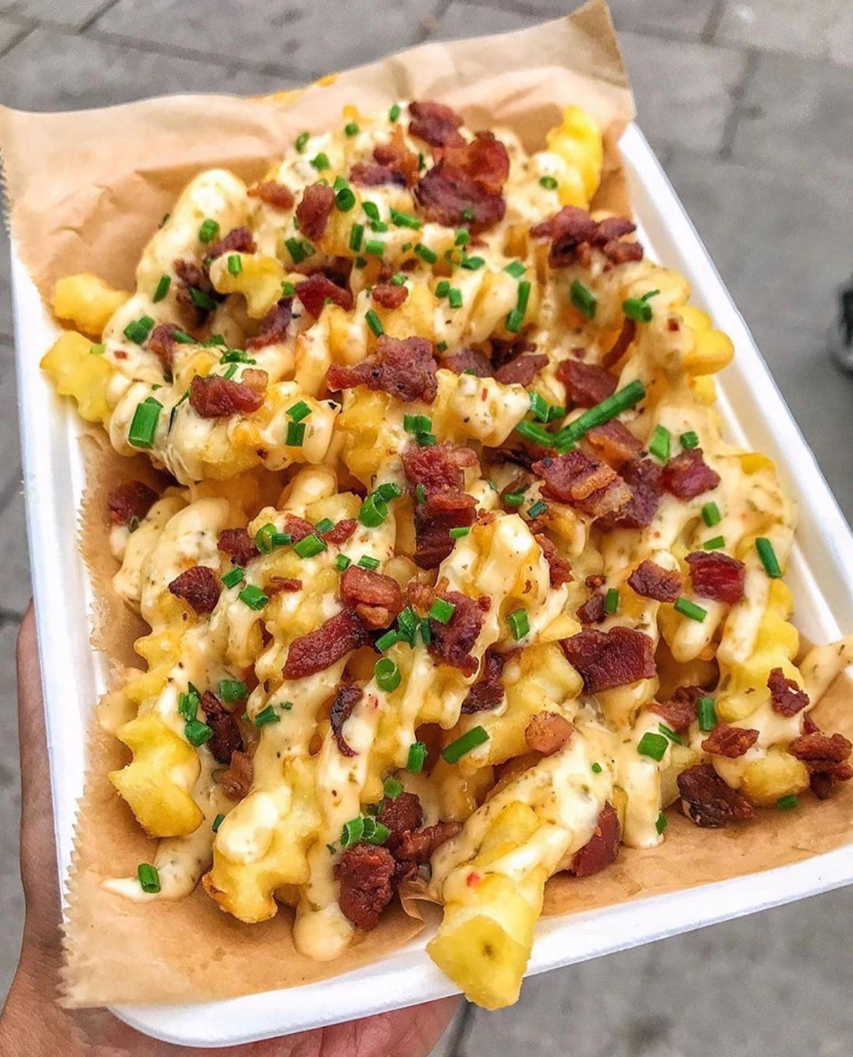 bacon, cheese, and cream image