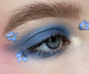 flowers, blue, and eye image