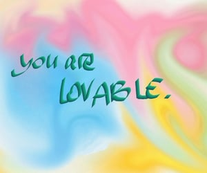 colorful, lovable, and love image