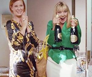 champagne, miranda, and satc image