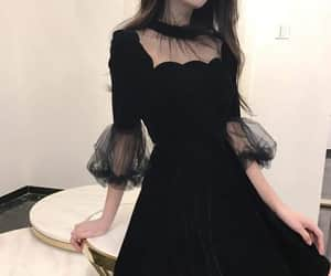 beauty, black, and outfit image