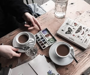 coffee, art, and artsy image
