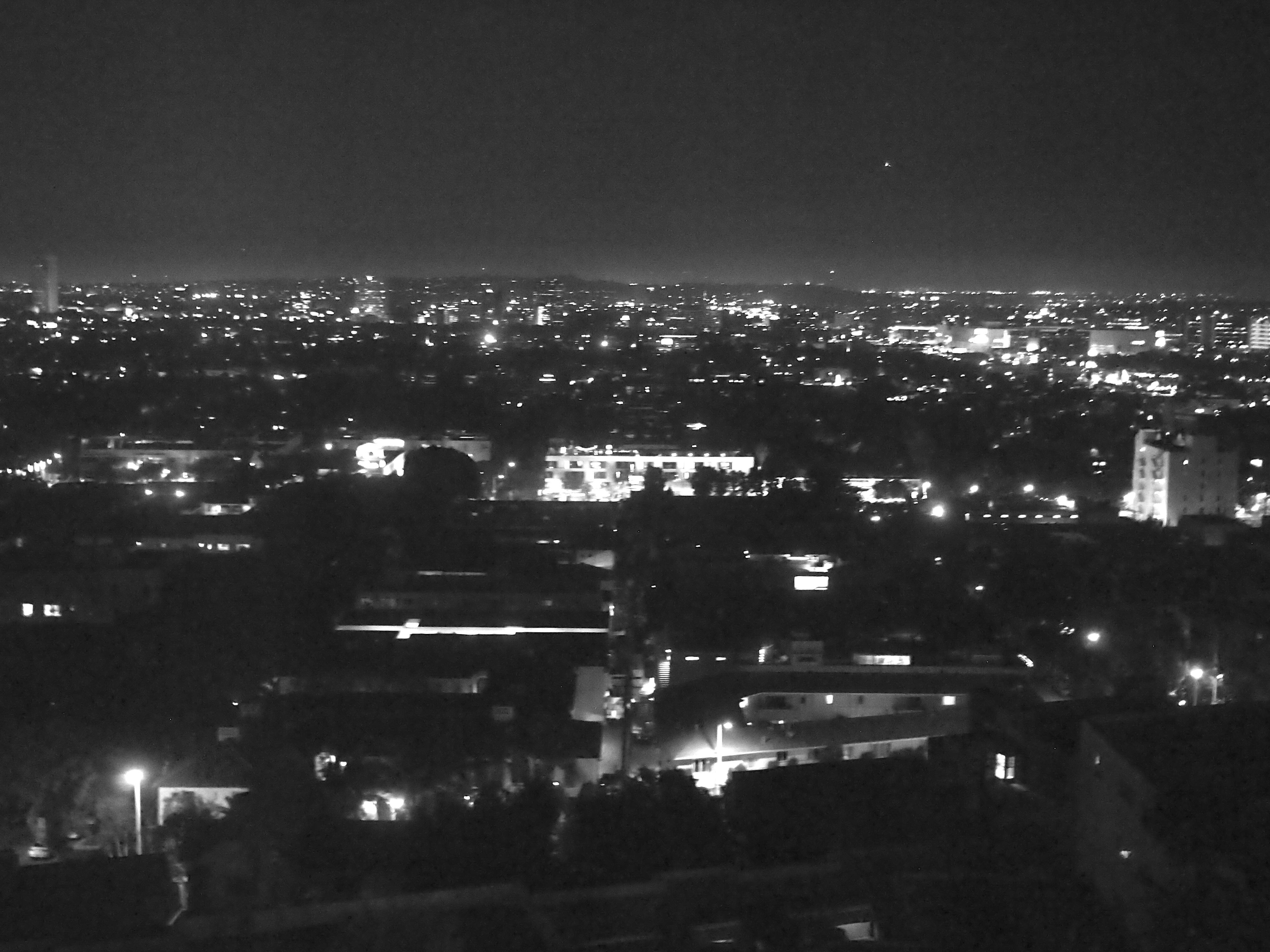 blackandwhite, hollywood, and night image