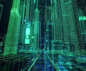 city, cyberpunk, and electronics image