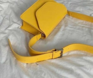 bag, yellow, and aesthetic image