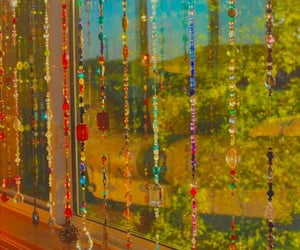 beads, curtain, and indie image