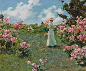 art, flowers, and garden image