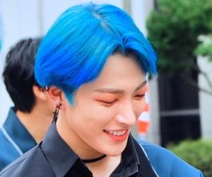 blue hair, boy group, and atz image