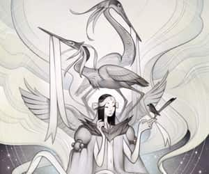 art, storks, and messenger image