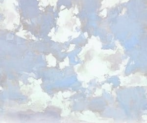 header, clouds, and art image