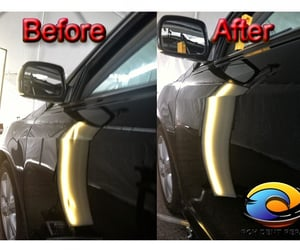 paintless dent removal, paintless bumper repair, and classic car dent removal image
