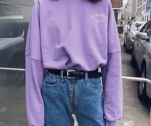 girl, sweat, and purple image
