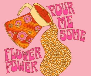 1970s, 70s, and flowerpower image