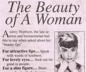 audrey hepburn, woman, and beauty image