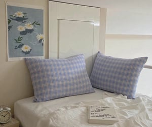 blue, interior, and bedroom image