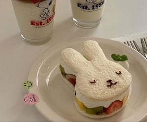 food, aesthetic, and bunny image
