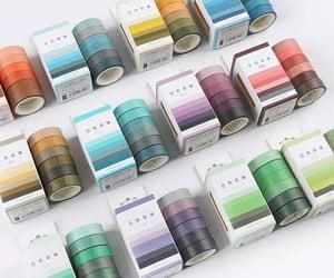 masking tape, stationery, and washi tape image