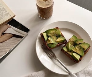 avocado, coffee, and drinks image