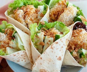 bbq, lettuce, and tortilla image