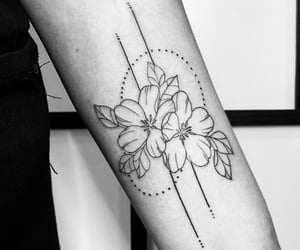 arm, arm tattoo, and art image