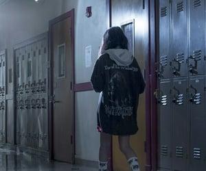 black, lockers, and mood image