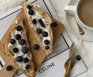 blueberries, brunch, and coffee image